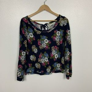 Anthropologie Saturday Sunday Sweater Floral Sz: S